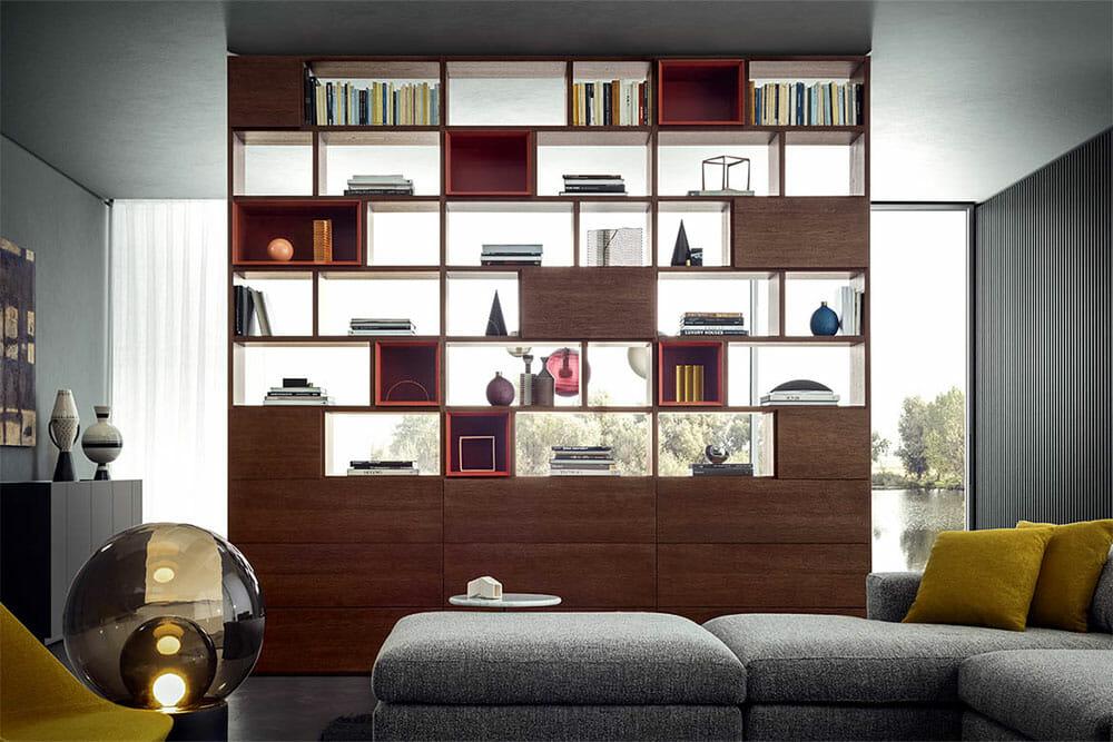 libreria-moderna-soggiorno-pianca